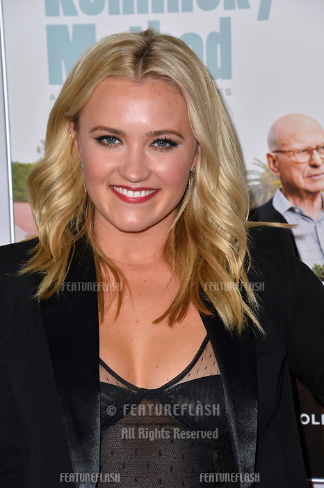 LOS ANGELES, CA. November 10, 2018: Emily Osment at the AFI Fest 2018 world premiere of &quot;The Kominsky Method&quot; at the TCL Chinese Theatre.<br /> Picture: Paul Smith/Featureflash