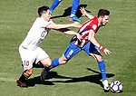 Atletico de Madrid's Saul Niguez (r) and Sevilla FC's Samir Nasri during La Liga match. March 19,2017. (ALTERPHOTOS/Acero)