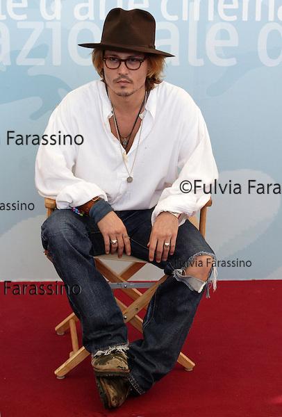 Mostra Internazionale del Cinema di Venezia, Venice Film Festival, 2003, Johnny Depp.