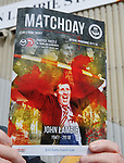 21.04.2018 Partick Thistle v Hamilton:  Fans at the new John Lambie Stand and John Lambie on programme