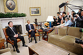 United States President Barack Obama meets with Prime Minister Yoshihiko Noda of Japan in the Oval Office of the White House on April 30, 2012 in Washington DC..Credit: Olivier Douliery / Pool via CNP