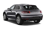 Car pictures of rear three quarter view of a 2018 Porsche Macan S 5 Door SUV Angular Rear