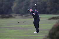 Paul Dunne (IRL) on the 2nd fairway during Round 4 of the Sky Sports British Masters at Walton Heath Golf Club in Tadworth, Surrey, England on Sunday 14th Oct 2018.<br /> Picture:  Thos Caffrey | Golffile<br /> <br /> All photo usage must carry mandatory copyright credit (&copy; Golffile | Thos Caffrey)