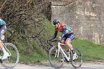 The peloton including Marco Canola (ITA) Nippo-Vini Fantini-EUR.OV. on sector 5 Lucignano d'Asso during Strade Bianche 2019 running 184km from Siena to Siena, held over the white gravel roads of Tuscany, Italy. 9th March 2019.<br /> Picture: Seamus Yore | Cyclefile<br /> <br /> <br /> All photos usage must carry mandatory copyright credit (© Cyclefile | Seamus Yore)