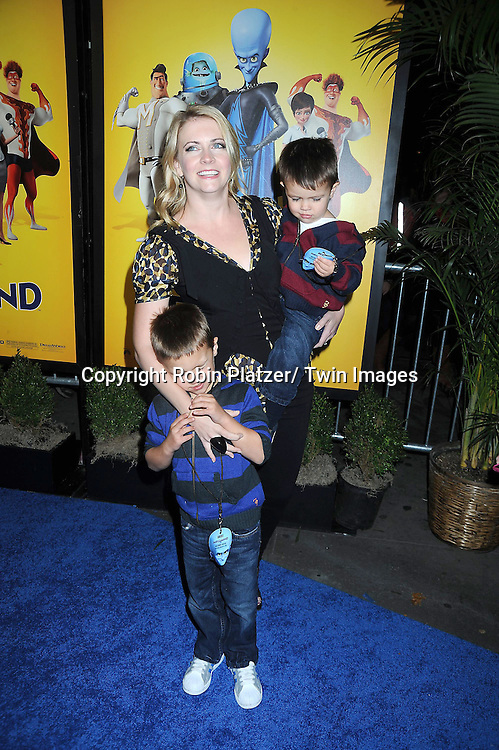 "Melissa Joan Hart and sons Mason and Bradon at the New York Premiere of "" Megamind"" .on November 3, 2010 at the AMC Lincoln Square Theatre."