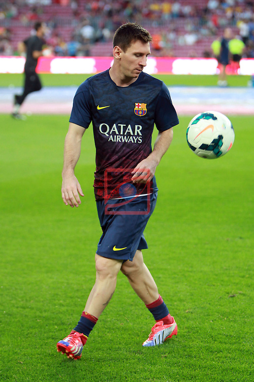 League BBVA 2013/2014 - Game: 06.<br /> 2013-09-24: FC Barcelona vs R. Sociedad: 4-1.<br /> Lionel Messi.