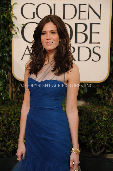 WWW.ACEPIXS.COM . . . . . ....January 16 2011, Los Angeles....Actress Mandy Moore arriving at the 68th Annual Golden Globe Awards at The Beverly Hilton hotel on January 16, 2011 in Beverly Hills,....Please byline: PETER WEST - ACEPIXS.COM....Ace Pictures, Inc:  ..(212) 243-8787 or (646) 679 0430..e-mail: picturedesk@acepixs.com..web: http://www.acepixs.com