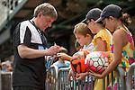 Peter Beardsley sign autographs during the HKFC Citi Soccer Sevens on 22 May 2016 in the Hong Kong Footbal Club, Hong Kong, China. Photo by Li Man Yuen / Power Sport Images