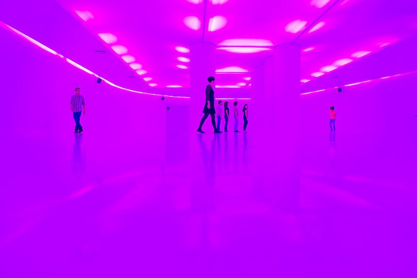 Centro de Cultura Digital (CCD) a musuem of digital culture at the Estela de Luz in Mexico City.  Designed bu at103.