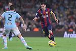 01.11.2014 Barcelona, Spain. La Liga day 10. Picture show Leo Messi in action during game between FC Barcelona against Celta de Vigo at Camp Nou