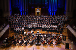 St Cuthbert's students  during their 2019 Carols service at the Auckland Town Hall. 03 December 2019 Photograph by Greg Bowker/BW Media