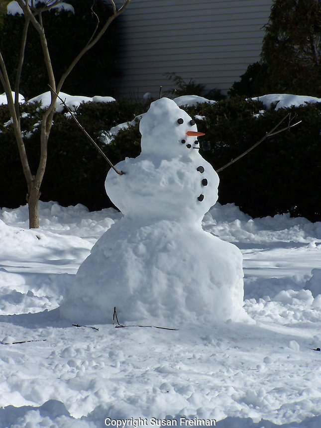 Photos of snow and snowmen and water in all its forms.