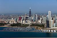 aerial photograph Millenium Park, Chicago, Illinois