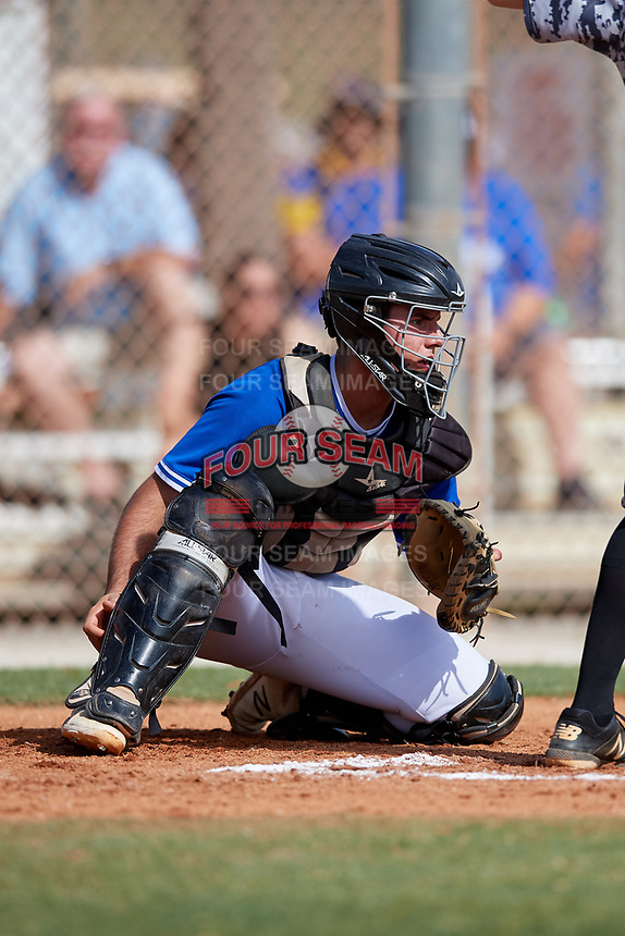Jakob Kouneski during the WWBA World Championship at the Roger Dean Complex on October 20, 2018 in Jupiter, Florida.  Jakob Kouneski is a catcher from Minneapolis, Minnesota who attends Southwest High School.  (Mike Janes/Four Seam Images)