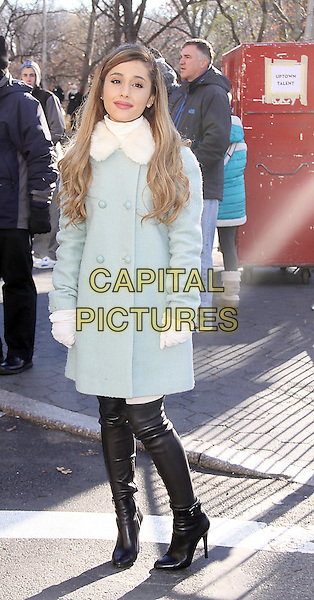 NEW YORK, NY - NOVEMBER 28: Ariana Grande attends the 87th annual Macy's Thanksgiving Day parade on November 28, 2013 in New York City, NY., USA. <br /> CAP/MPI/RW<br /> &copy;RW/ MediaPunch/Capital Pictures
