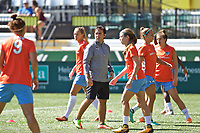 Portland, OR - Saturday August 05, 2017: Houston Dash  during warmups before a regular season National Women's Soccer League (NWSL) match between the Portland Thorns FC and the Houston Dash at Providence Park.