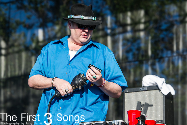 John Popper of Blues Traveler performs at the 2nd Annual BottleRock Napa Festival at Napa Valley Expo in Napa, California.