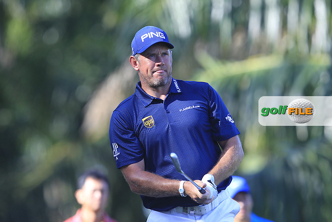 Lee Westwood (ENG) on the 5th tee during Round 4 of the Maybank Championship on Sunday 12th February 2017.<br /> Picture:  Thos Caffrey / Golffile<br /> <br /> All photo usage must carry mandatory copyright credit     (&copy; Golffile | Thos Caffrey)