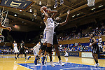 07 January 2016: Duke's Azura Stevens (11) is fouled by Wake Forest's Milan Quinn (32). The Duke University Blue Devils hosted the Wake Forest University Demon Deacons at Cameron Indoor Stadium in Durham, North Carolina in a 2015-16 NCAA Division I Women's Basketball game. Duke won the game 95-68.