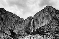 Upper Yosemite Falls,    35mm image on Ilford Delta 100 film