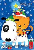 Sarah, CHRISTMAS ANIMALS, WEIHNACHTEN TIERE, NAVIDAD ANIMALES, paintings+++++CritterXmas-16-A-1,USSB117,#XA#