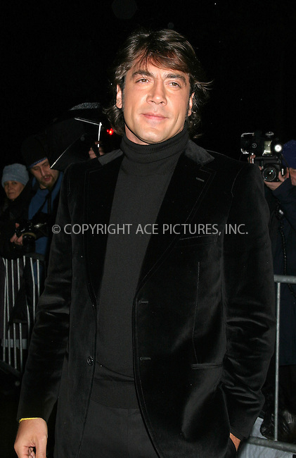WWW.ACEPIXS.COM . . . . . ....NEW YORK, JANUARY 11, 2005....Javier Bardem at the National Board of Review Annual Gala 2005 at Tavern On The Green .....Please byline: ACE009 - ACE PICTURES.. . . . . . ..Ace Pictures, Inc:  ..Alecsey Boldeskul (646) 267-6913 ..Philip Vaughan (646) 769-0430..e-mail: info@acepixs.com..web: http://www.acepixs.com