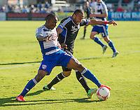 SANTA CLARA, CA - October 26, 2013: The San Jose Earthquakes vs FC Dallas match in Buck Shaw Stadium in Santa Clara, CA. Final score SJ Earthquakes 2, FC Dallas 1.
