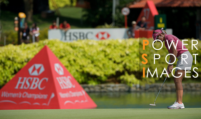 SINGAPORE - MARCH 08:  Paula Creamer of the USA on the par four 18th hole during the final round of HSBC Women's Champions at the Tanah Merah Country Club on March 8, 2009 in Singapore. Photo by Victor Fraile / The Power of Sport Images