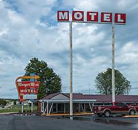 "The Munger Moss Motel is a vintage auto court that harks back to the hey-day of Route 66! It is Route 66 lodging at its finest. It has been the ""home away from home"" for generations of travelers on old Route 66, and is still serving the modern highway traveler with all the amenities one would expect from a first class lodging establishment. Clean, modern rooms await you at the Munger Moss Motel. Yet the Munger Moss has all the charm of yesteryear—those days before the interstates cut off small-town America and the unique ""mom and pop"" businesses that lined America's two-lane highways."