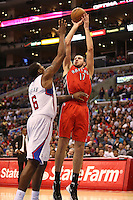 12/09/12 Los Angeles, CA: Toronto Raptors center Jonas Valanciunas #17 during an NBA game between the Los Angeles Clippers and the Toronto Raptors played at Staples Center. The Clippers defeated the Raptors 102-83.