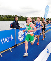 Photo: Richard Lane/Richard Lane Photography. GE Strathclyde Park Triathlon. 22/05/2011. Elite Men race. Conor Murphy.