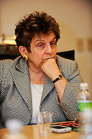 President of the University of Miami Donna Shalala listens during a meeting of the members of the USA Bid Committee for the FIFA World Cup in New York, NY on December 15, 2009.