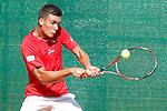 Spain's Andres Fernandez Canovas during Junior Davis Cup 2015 match. September  30, 2015.(ALTERPHOTOS/Acero)