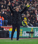 Liverpool Manager Brendan Rodgers issues instructions - Barclays Premier League - Southampton vs Liverpool - St Mary's Stadium - Southampton - England - 22nd February 2015 - Pic Robin Parker/Sportimage