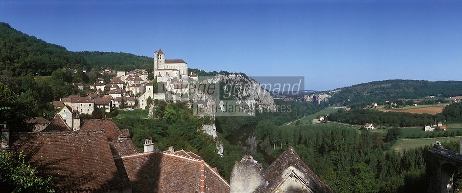 Europe/France/Midi-Pyrénées/46/Lot/Saint-Cirq-Lapopie: Le village