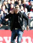 Nederland, Rotterdam, 28 oktober 2012.Eredivisie.Seizoen 2012-2013.Feyenoord-Ajax.John Guidetti neemt voor de wedstrijd Feyenoord tegen Ajax afscheid van Feyenoord en het publiek.