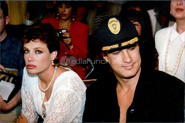 Steven Segal & wife, Kelly LeBrock 1992<br /> Photo By John Barrett-PHOTOlink.net / MediaPunch