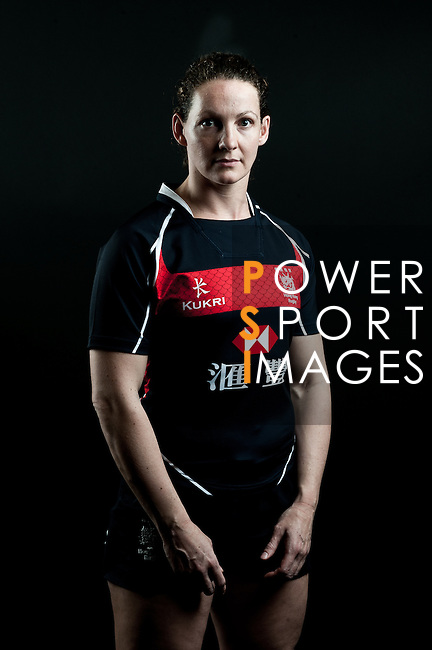 Christine Gordon poses during the Hong Kong 7's Squads Portraits on 5 March 2012 at the King's Park Sport Ground in Hong Kong. Photo by Andy Jones / The Power of Sport Images for HKRFU