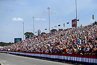 Mar 16, 2014; Gainesville, FL, USA; NHRA fans fill the grandstands during the Gatornationals at Gainesville Raceway Mandatory Credit: Mark J. Rebilas-USA TODAY Sports