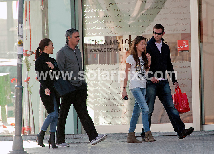 **ALL ROUND EXCLUSIVE PICTURES FROM SOLARPIX.COM**                                             **UK SYNDICATION RIGHTS EXCEPT SPAIN - NO SYNDICATION OUTSIDE OF UK**                                                                                  Caption:   Real Madrid FC Manager Jose Mourinho with his family - wife Matilde aka Tami, and children (also) Matilde, Jose JR and Zuca - take stroll in Madrid, Spain. 8 February 2011.                                                                                                                                                                JOB REF: 12768        RAM       DATE: 08_02_2011                                                              **MUST CREDIT SOLARPIX.COM OR DOUBLE FEE WILL BE CHARGED**                                                                      **MUST AGREE FEE BEFORE ONLINE USAGE**                               **CALL US ON: +34 952 811 768 or LOW RATE FROM UK 0844 617 7637**