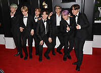 LOS ANGELES, CA - FEBRUARY 10: BTS at the 61st Annual Grammy Awards at the Staples Center in Los Angeles, California on February 10, 2019. <br /> CAP/MPIFS<br /> &copy;MPIFS/Capital Pictures