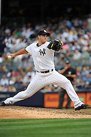 New York Yankees pitcher George Kontos #70 during a game against the Tampa Bay Rays at Yankee Stadium on September 21, 2011 in Bronx, NY.  Yankees defeated Rays 4-2.  Tomasso DeRosa/Four Seam Images