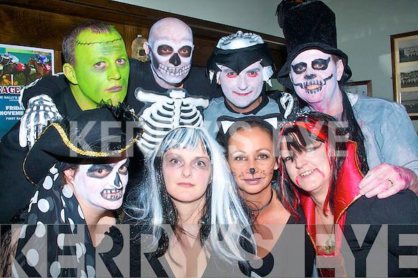 5809-5813.Be afraid.Enjoying the Halloween fun in Gally's Bar/restaurant Castlemaine Rd Tralee last Saturday night were front L-R Sinead Moriarty,Peg Wickham,Trish Goodall and Myra O'Sullivan(back)L-R Peter Wickham,Joe Keane,John Moriarty and Vincent O'Sullivan.