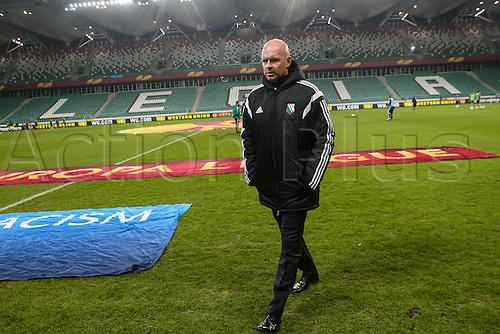 26.02.2015. Warsaw, Poland. Europa League football. Legia Warsaw versus Ajax.  Manager Henning Berg (Legia)