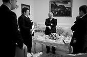 Warsaw, 26 May 2009, Poland.<br /> Lech Kaczynski - President of the Republic of Poland.<br /> (&copy; Filip Cwik / Napo Images for Newsweek Poland )<br /> <br /> Warszawa 26 maj 2009 Polska<br /> Prezydent Rzeczypospolitej Polskiej Lech Kaczynski<br /> nz. Michal kobosko, Piotr Smilowicz, Lech Kaczynski, Andrzej Stankiewicz<br /> <br /> (&copy; Filip Cwik / Napo Images dla Newsweek Polska )