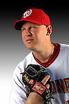 25 February 2007: Washington Nationals pitcher Mike Bacsik poses for his Photo Day portrait at Space Coast Stadium in Viera, Florida.<br /> <br /> Mandatory Photo Credit: Ed Wolfstein Photo<br /> <br /> Note: This image is available in a RAW (NEF) File Format - contact Photographer.