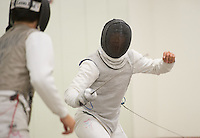 Stanford, California - Wednesday, February 28, 2015: The Stanford Fencing team practices.