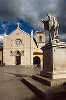 Italien, Umbrien, Piazza San Benedetto in Norcia