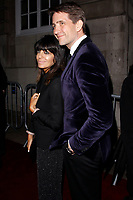 LONDON, ENGLAND - FEBRUARY 09 : Claudia Winkleman and Kris Thykier arrive at the Charles Finch and Chanel pre-BAFTA party at Loulou's on February 09, 2019 in London, England.<br /> CAP/AH<br /> &copy;Adam Houghton/Capital Pictures