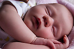 Infant baby girl sleeping